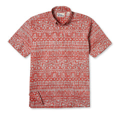 Reyn Spooner Sailing Channel Hawaiian Shirt in CORAL