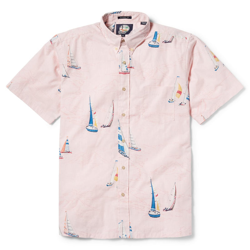 Reyn Spooner Tradewinds Regatta Classic Fit Button Front Shirt in PINK