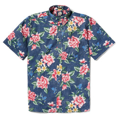 Reyn Spooner Hou Pua Nui Classic Fit Button Front Shirt in INK
