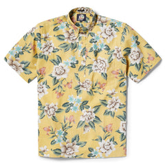 Reyn Spooner Hou Pua Nui Classic Fit Pullover Shirt in YELLOW
