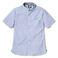 Reyn Spooner Solid Stretch Oxford Tailored Fit Button Front Shirt in BLUE