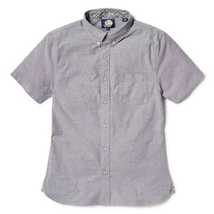 Reyn Spooner Solid Stretch Oxford Tailored Fit Button Front Shirt in GREY