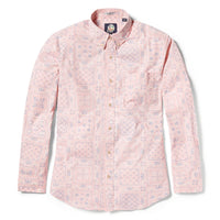 Reyn Spooner Original Lahaina Multi Tailored Fit Button Front Long Sleeve Shirt in PINK