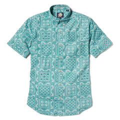 Reyn Spooner Original Lahaina Multi Tailored Fit Button Front Shirt in MINT