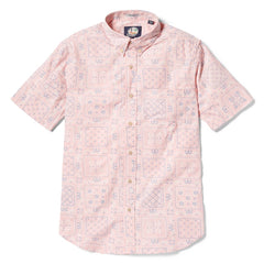 Reyn Spooner Original Lahaina Multi Tailored Fit Button Front Shirt in PINK