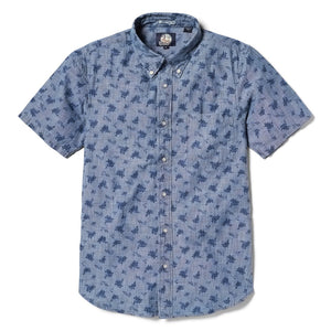 Reyn Spooner Floral Chambray Tailored Fit Button Front Shirt in CHAMBRAY