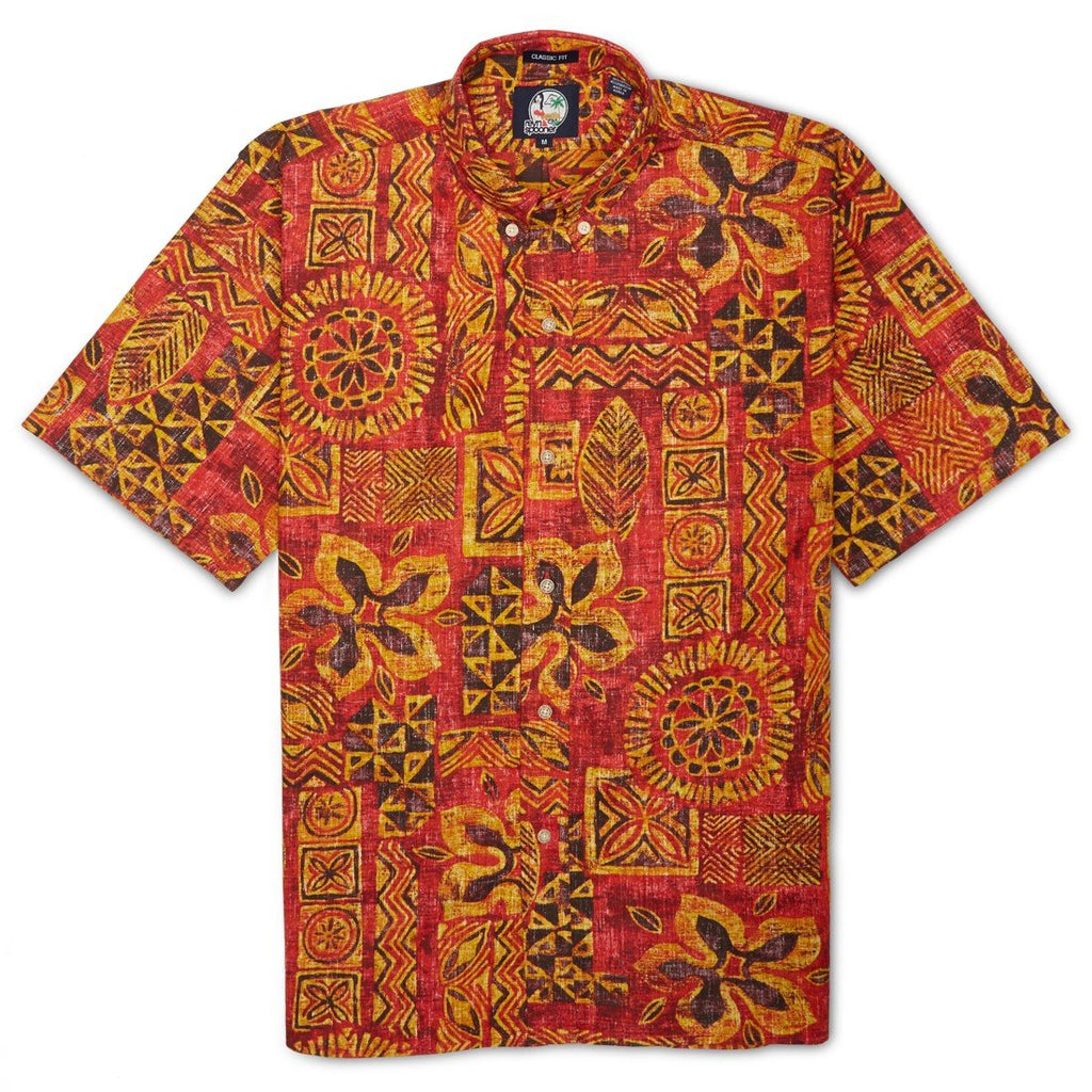Reyn Spooner Kaapuni Hawaiian Shirt in CHERRY