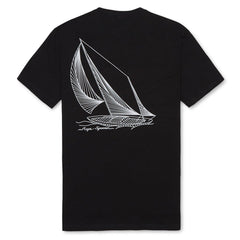 Reyn Spooner String And Sails Tee in BLACK
