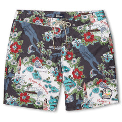 Reyn Spooner Status Oceanic Hawaiian Boardshorts in BLACK