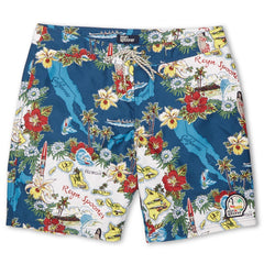 Reyn Spooner Status Oceanic Hawaiian Boardshorts in NAVY