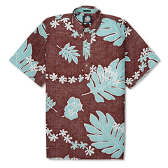 Reyn Spooner Old School Reyns Hawaiian Shirt in ESPRESSO