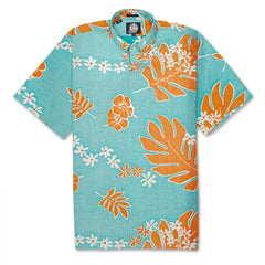 Reyn Spooner Old School Reyns Classic Fit Pullover Hawaiian Shirt in LAGOON