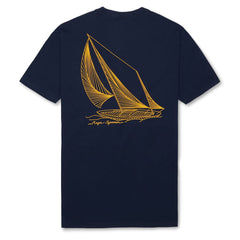 Reyn Spooner String And Sails Tee in NAVY