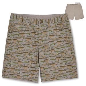 CAMO FISH / REVERSIBLE SHORTS
