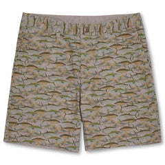Reyn Spooner Camo Fish Shorts in KHAKI
