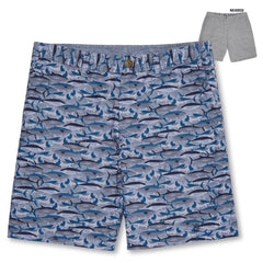 Reyn Spooner Camo Fish Shorts in NAVY