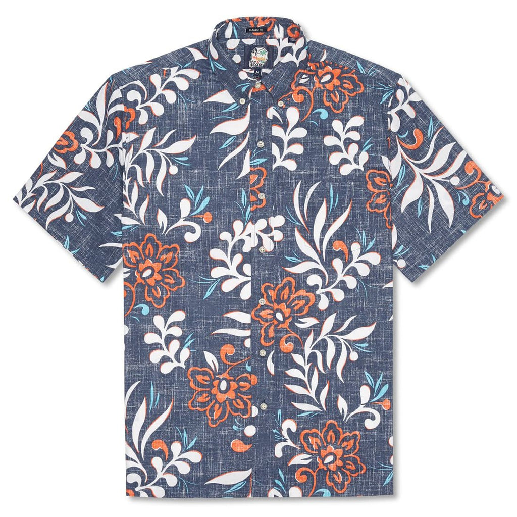 Reyn Spooner Perennial Pareau Classic Fit Button Front Shirt in INK