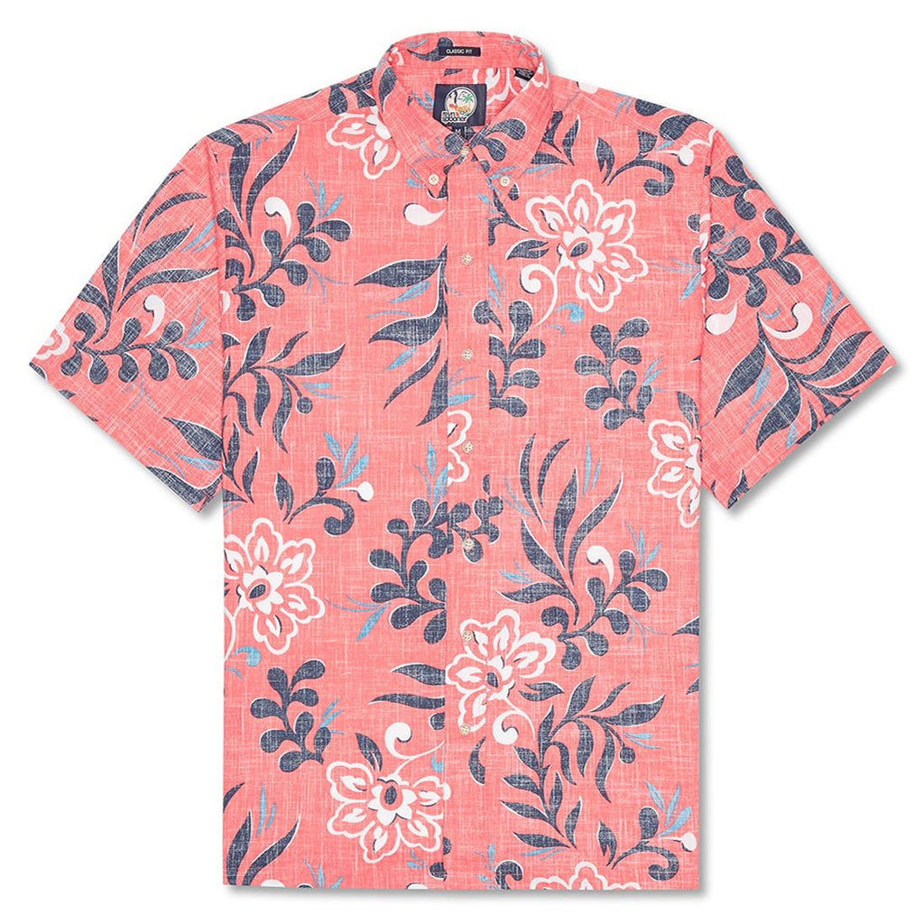 Reyn Spooner Perennial Pareau Classic Fit Button Front Shirt in PINK