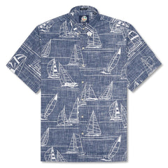 Reyn Spooner Newport 2 Honolulu Classic Fit Button Front Shirt in INK