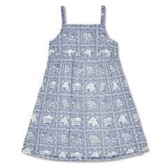 Reyn Spooner Lahaina Sailor Girls Dress in DENIM