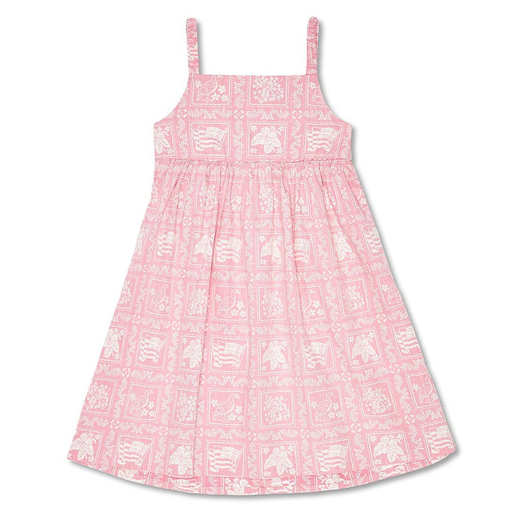 Reyn Spooner Lahaina Sailor Girls Dress in PINK