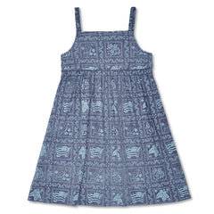 Reyn Spooner Lahaina Sailor Girls Dress in ROYAL