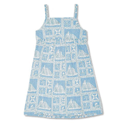 Reyn Spooner Newport Sailor Girls Sundress in DENIM