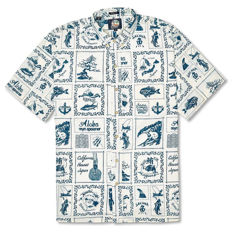 Reyn Spooner Stories from the East Classic Fit Shirt in NAURAL BUTTON FRONT