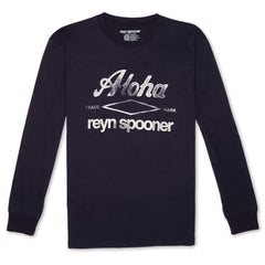 Reyn Spooner Aloha Spooner Long Sleeve Tee in NAVY