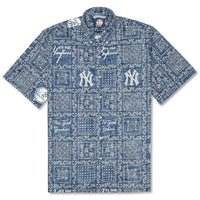 Reyn Spooner Yankees Lahaina Weekend Wash Classic Fit Shirt in NAVY