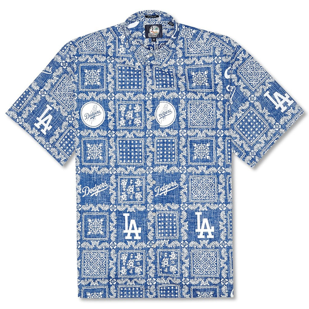 Reyn Spooner Dodgers Lahaina Weekend Wash Classic Fit Shirt in BLUE