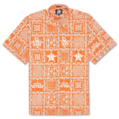 Reyn Spooner Astros Lahaina Weekend Wash Classic Fit Shirt in ORANGE