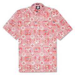 Reyn Spooner Summer Commemorative 2018 Classic Fit Pullover Shirt in CARDINAL