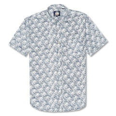 Reyn Spooner Kai Ho'olili Tailored Fit Button Front Shirt in INK