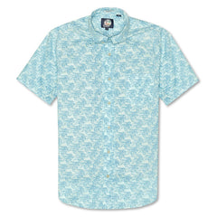 Reyn Spooner Kai Ho'olili Tailored Fit Button Front Shirt in PALE BLUE