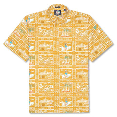 Reyn Spooner Spooner Sports Classic Fit Button Front Shirt in BUTTERSCOTCH