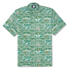 Reyn Spooner Spooner Sports Classic Fit Button Front Shirt in GREEN