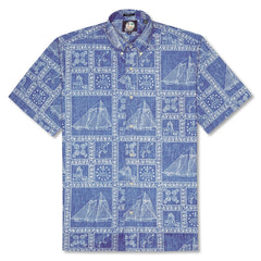 Reyn Spooner Newport Sailor Classic Fit Shirt in MARINE