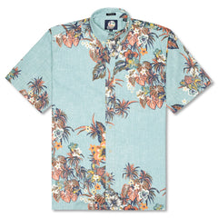 Reyn Spooner Pupus and Mai Tais Weekend Wash Classic Fit Button Front Shirt in AQUA