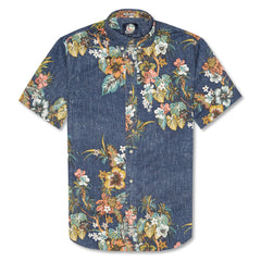 Reyn Spooner Pupus and Mai Tais Weekend Wash Tailored Fit Shirt in INK