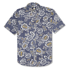 Reyn Spooner Miyazake Gardens Weekend Wash Tailored Button Front Shirt in INK