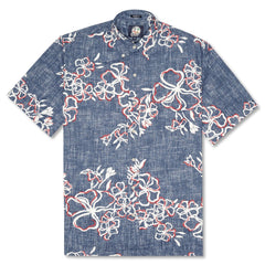 Reyn Spooner Lei Over Classic Fit Button Front Shirt in INK