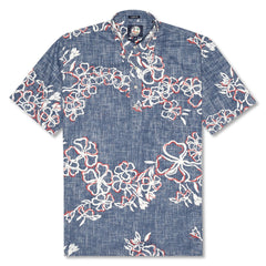 Reyn Spooner Lei Over Classic Fit Pullover Shirt in INK