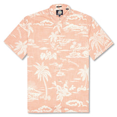 Reyn Spooner My Private Isle Classic Fit Button Front Shirt in CORAL
