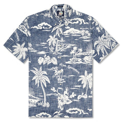 Reyn Spooner My Private Isle Classic Fit Button Front Shirt in INK