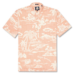 Reyn Spooner My Private Isle Classic Fit Pullover Shirt in CORAL