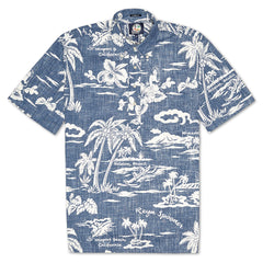 Reyn Spooner My Private Isle Classic Fit Pullover Shirt in INK