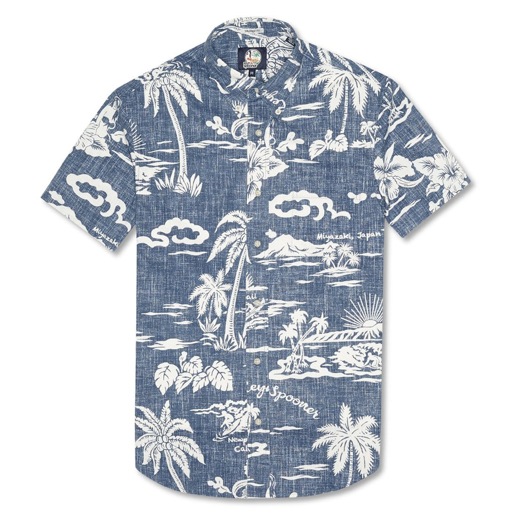 10c1ce2b11a Reyn Spooner My Private Isle Weekend Wash Tailored Shirt in INK
