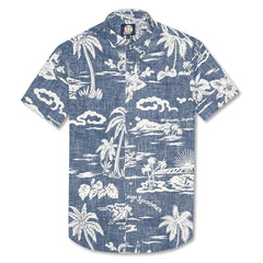 Reyn Spooner My Private Isle Weekend Wash Tailored Shirt in INK