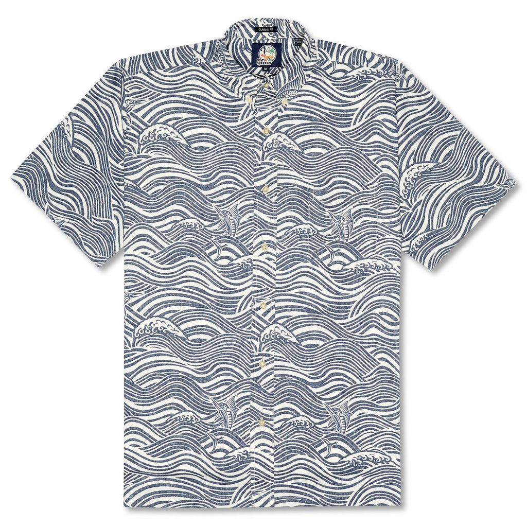Reyn Spooner Channel Sailor Classic Fit Button Front Shirt in INK